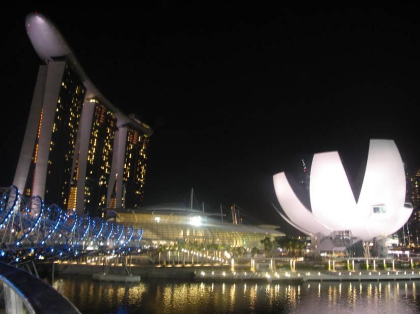 Marina Bay: Hotel Marina Sands y el ArtScience Museum