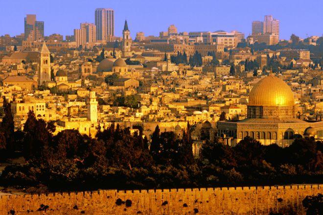 An aerial view of Jerusalem, Israel-1439884